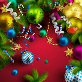 Beautiful christmas background. 10 stock illustration