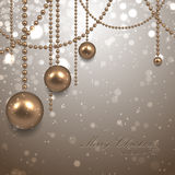 Beautiful christmas background with garland Royalty Free Stock Image