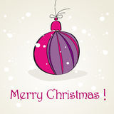 Beautiful Christmas background with purple globe Royalty Free Stock Image