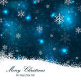 Beautiful christmas background with snowflakes Royalty Free Stock Photos