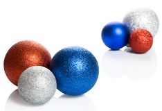 Beautiful Christmas ball. On white background Royalty Free Stock Photography