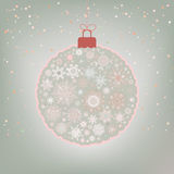 Beautiful Christmas ball card. EPS 8 Royalty Free Stock Photos