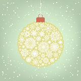 Beautiful Christmas ball illustration. EPS 8 Stock Images