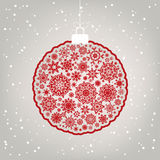 Beautiful Christmas ball illustration. EPS 8 Royalty Free Stock Photography