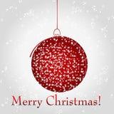 Beautiful Christmas ball illustration Royalty Free Stock Photo