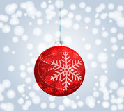Beautiful Christmas ball illustration Stock Images