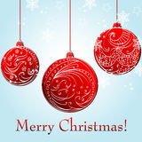 Beautiful Christmas ball illustration. Vector beautiful glittering Christmas ball illustration Royalty Free Stock Photography