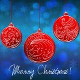 Beautiful Christmas ball illustration. Vector beautiful glittering Christmas ball illustration Royalty Free Stock Photo