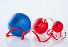 Beautiful Christmas ball on white background Royalty Free Stock Photography