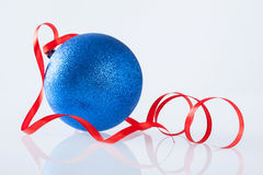 Beautiful Christmas ball on white background Royalty Free Stock Images