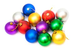 Beautiful Christmas balls Stock Photos