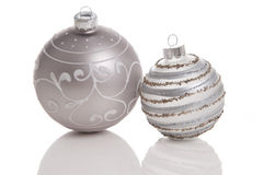 Beautiful Christmas balls. Taken in a white studio stock photography
