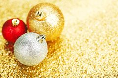 Beautiful christmas balls Stock Image