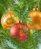 Beautiful christmas balls on the christmas tree Royalty Free Stock Photography