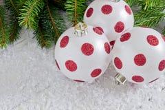 Beautiful christmas the balls Stock Image