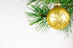 Beautiful Christmas balls on a white background Stock Photography