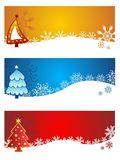 Beautiful christmas  banners set Royalty Free Stock Photos