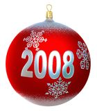 Beautiful christmas bauble. With 2008 royalty free illustration