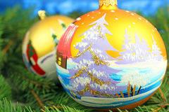 Beautiful christmas baubles Stock Image
