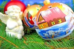 Beautiful christmas baubles Stock Photo
