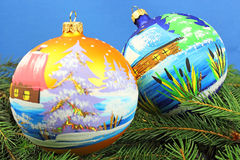 Beautiful christmas baubles Stock Photography