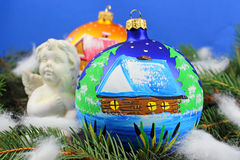 Beautiful christmas baubles Royalty Free Stock Photography