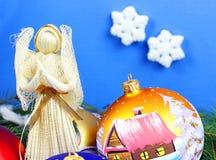 Beautiful christmas baubles Stock Photos