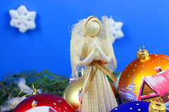 Beautiful christmas baubles Stock Images