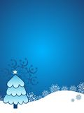 Beautiful christmas blue background tree Stock Photos