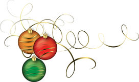 Beautiful Christmas bulbs for decorations on a card, poster or print Royalty Free Stock Images
