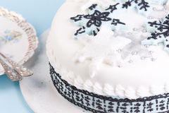 Beautiful Christmas cake Stock Image