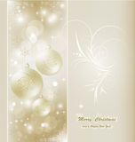 Beautiful christmas card Stock Photography