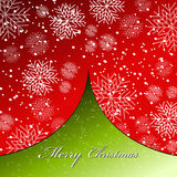 Beautiful Christmas card. Vector illustration of beautiful red - green Christmas card with snowflakes Stock Images