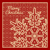 Beautiful  Christmas card Stock Photo