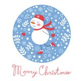 Beautiful Christmas card with frostie girl ice Royalty Free Stock Images