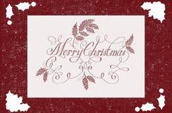 Beautiful Christmas card illustration stock images