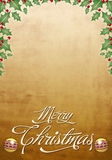 Beautiful Christmas card - poster. Vintage Christmas card - poster template Royalty Free Stock Photo