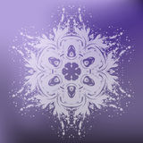 Beautiful Christmas card with  snowflake Stock Images