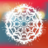 Beautiful Christmas card with  snowflake Royalty Free Stock Images