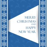 Beautiful Christmas card with snowflakes. Elegant background for New Year`s design. Merry Christmas and Happy New Year. Vector illustration Royalty Free Stock Images