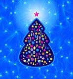 Beautiful  Christmas card Stock Images