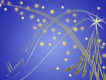 Beautiful Christmas card with stars forms Royalty Free Stock Photo