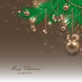 Beautiful christmas card Stock Image