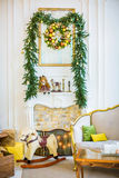 Beautiful christmas children`s room Royalty Free Stock Photo