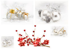 Beautiful Christmas Collage Stock Images