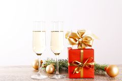 Two drinks for Happy New Year concept. royalty free stock photography