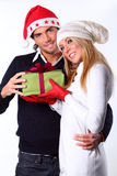 Beautiful Christmas couple Stock Image