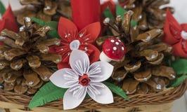Beautiful christmas decoration. Beutiful christmas decoration. Handmade flowers Royalty Free Stock Image