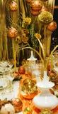 Beautiful christmas decoration stock photos