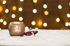 Beautiful christmas decoration, with light bulb Royalty Free Stock Images